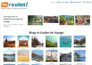 enroutes.com hébergement de blogs de voyage
